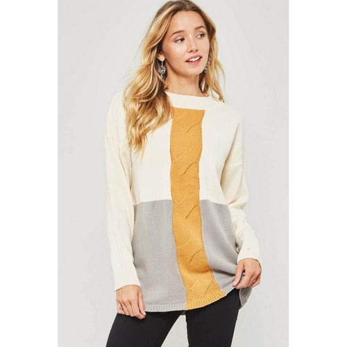 Love In Your Eyes Colorblock Sweater