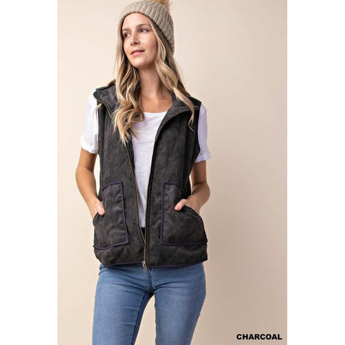 Said and Done Vest Charcoal