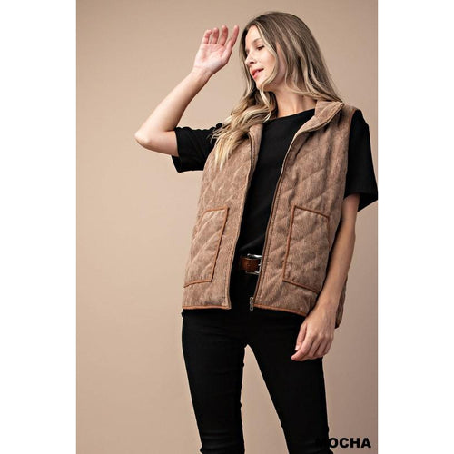 Said and Done Vest Mocha