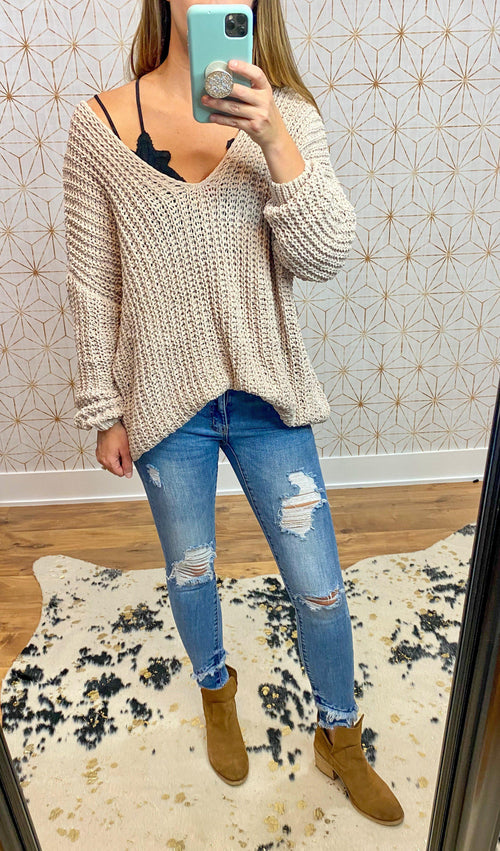 Stand By Me Top- Nude