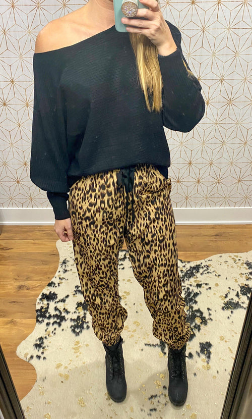 Real Love Leopard Joggers