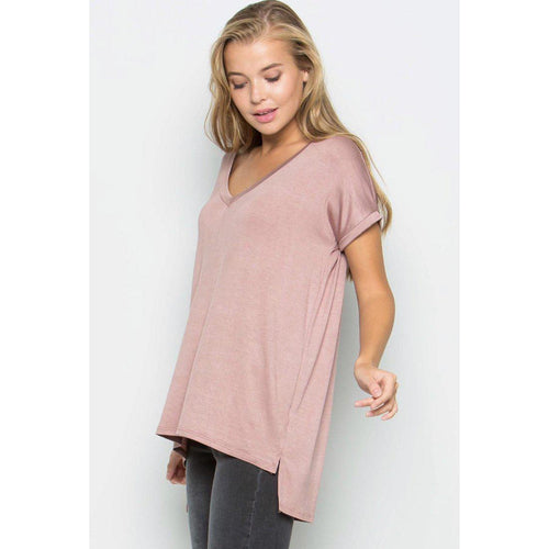 Boyfriend Tee- Dusty Pink