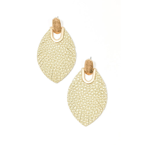 Sloan Earrings- Light Taupe
