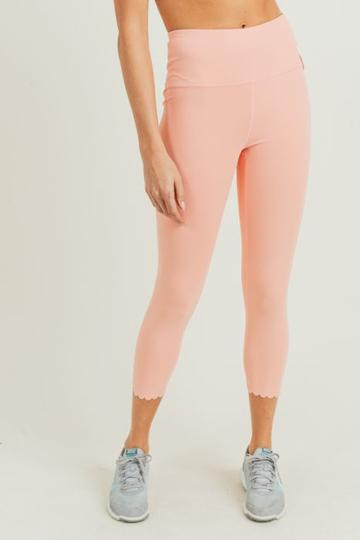 Cantaloupe Scalloped Leggings