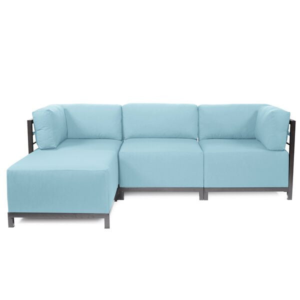 Sunbrella Patio Axis Four-Piece Sectional with Titanium Frame  sc 1 st  Violet Vase Interiors : axis sectional - Sectionals, Sofas & Couches