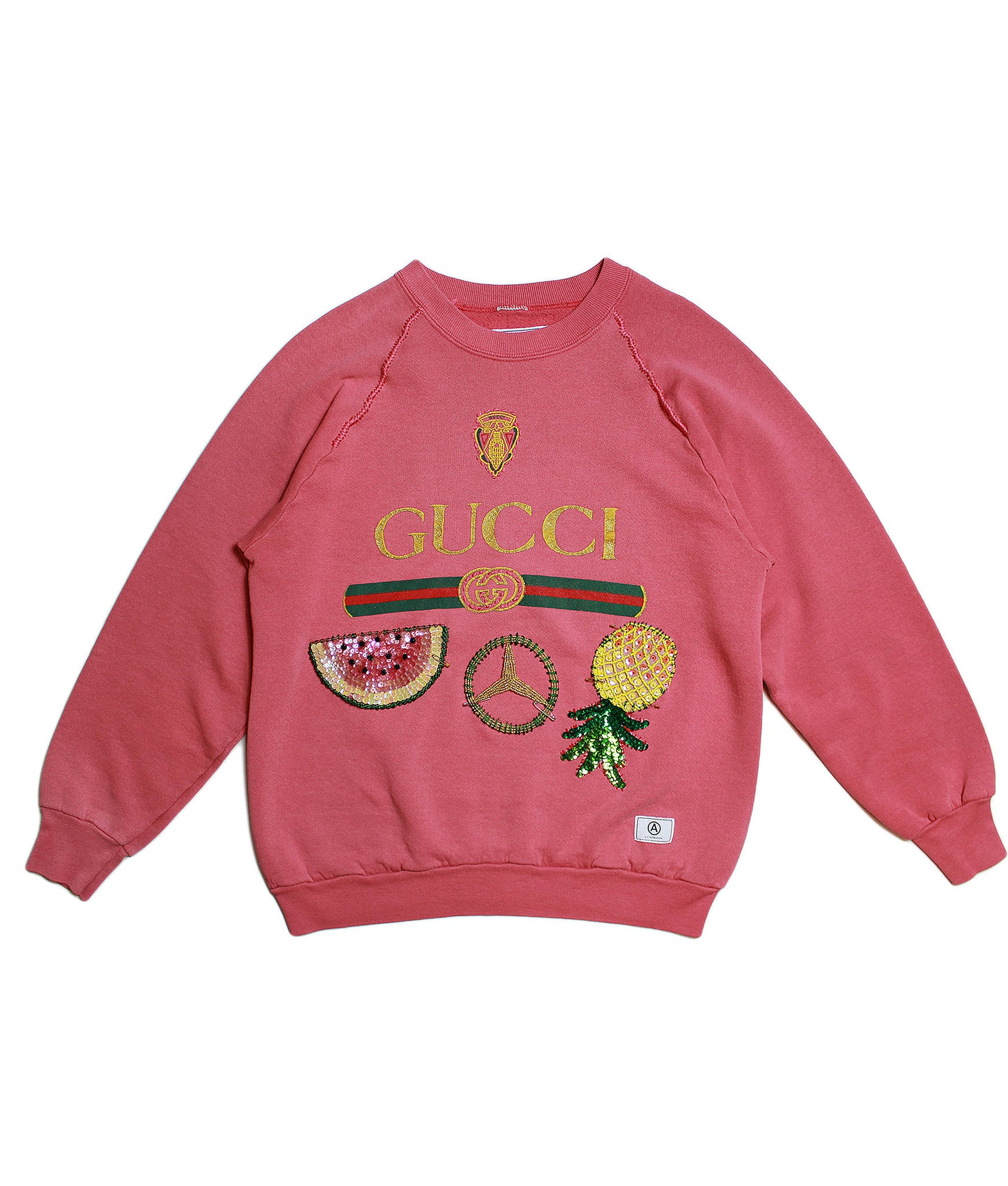 U.S ALTERATION/ GUCCI FRUIT/ VINTAGE SWEATSHIRT/ L