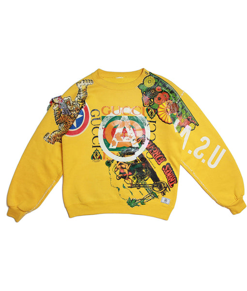 U.S ALTERATION 'TRIKES FOREVER' GUCCI VINTAGE SWEATSHIRT/ S