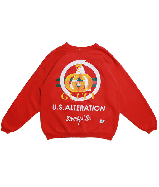 U.S ALTERATION 'MULTICOLOR LOGO' GUCCI VINTAGE SWEATSHIRT/ XL