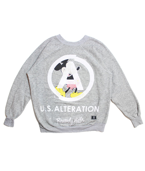 MICKEY MOUSE/ BASIC/ VINTAGE MICKEY/ SWEATSHIRT/ LT HTHR GREY/ S