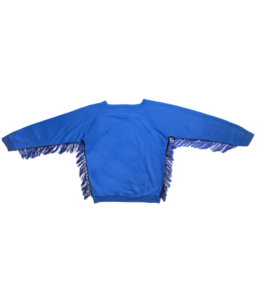 MICKEY MOUSE FRINGE / VINTAGE MICKEY/ SWEATSHIRT/ ROYAL BLUE/ L