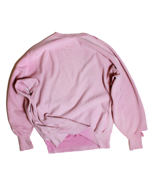 DUSTY ROSE /VINTAGE CHAMPION/ CREWNECK/ SWEATSHIRT /L