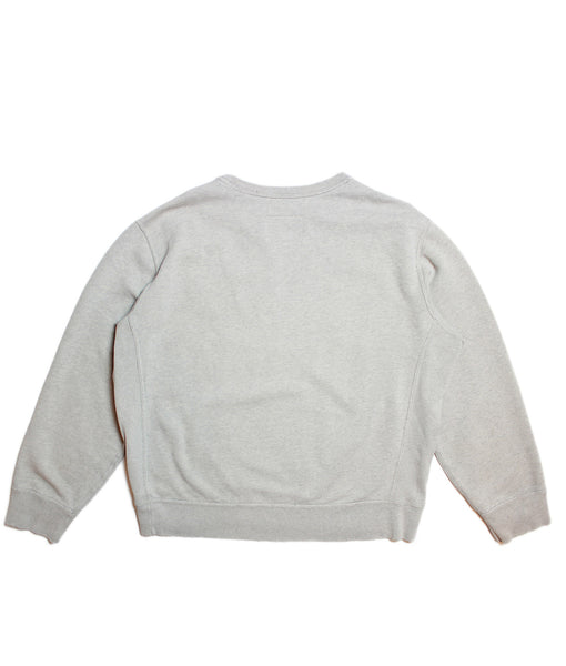 CHAMPION 'BASIC' DISTRESSED SWEATSHIRT/ FADED GREY/ XL