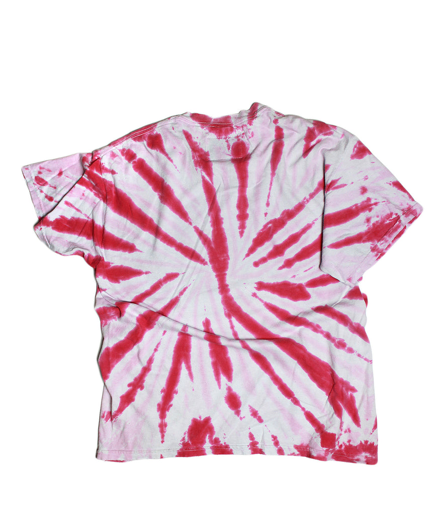 TWO-TONE PINK TIE DYE TSHIRT /SHORT SLEEVE/ XL
