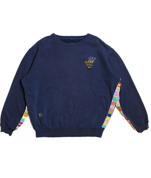 CHAMPION 'PATTERN' BASIC SWEATSHIRT/ FADED NAVY/ L