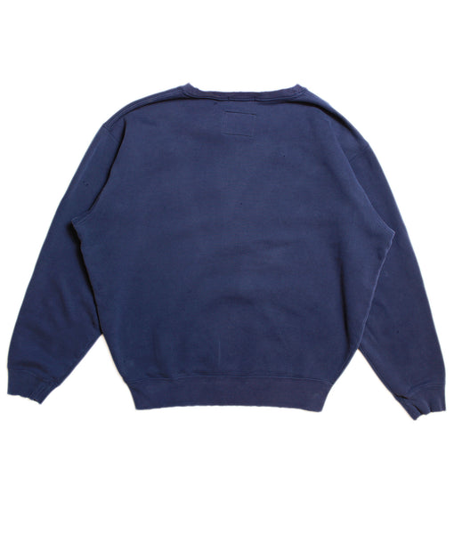 CHAMPION 'BASIC' DISTRESSED SWEATSHIRT/ FADED NAVY/ M