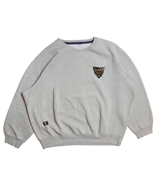 CHAMPION 'BASIC' DISTRESSED SWEATSHIRT/ NAVY LINING/ XXL