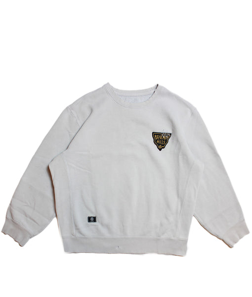 CHAMPION 'BASIC' DISTRESSED SWEATSHIRT/ SOLID GREY/ XL