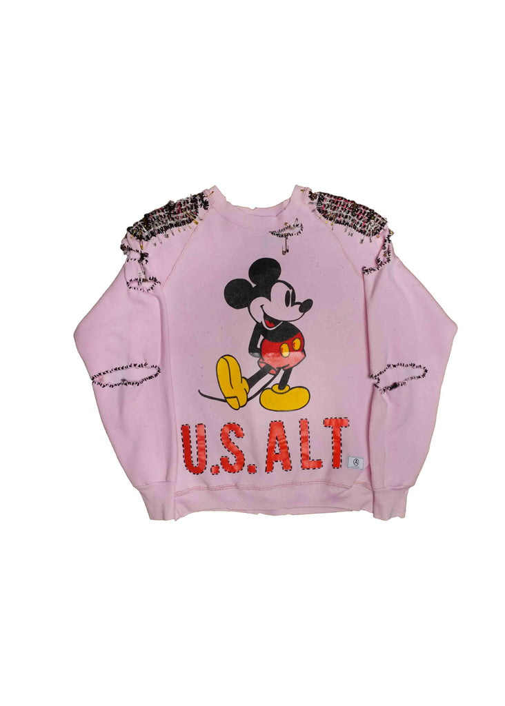 MICKEY MOUSE // BABY PINK CREW NECK