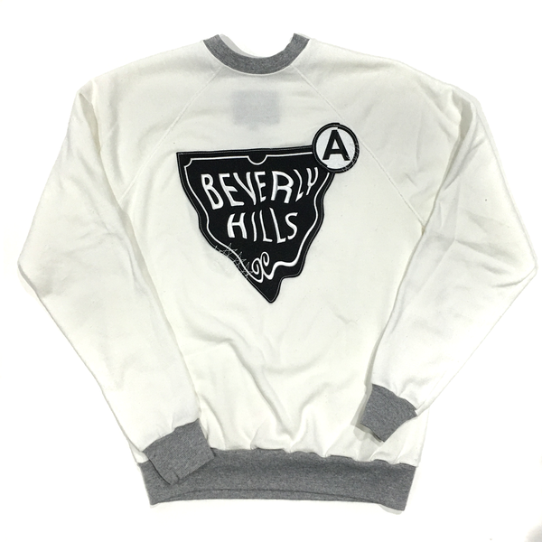 BEVERLY HILLS U.S ALTERATION LOGO SWEATSHIRT WHITE GREY MEDIUM