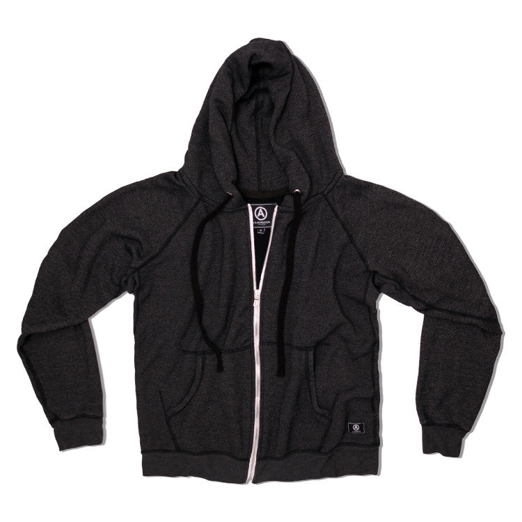 U.S. ALTERATION / UNISEX / BLACK / ZIP UP HOODIE