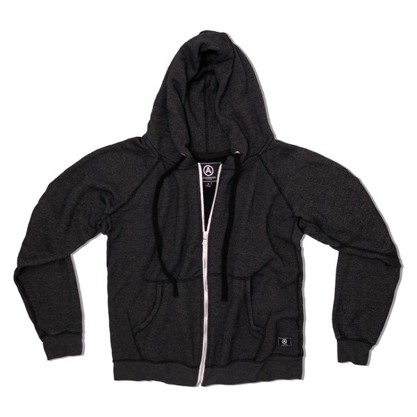 U.S. ALTERATION   BLACK ZIP UP HOODIE