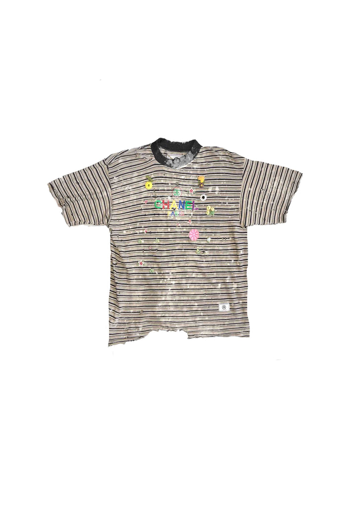 CHANEL TEE // PATCH WORK 'B'