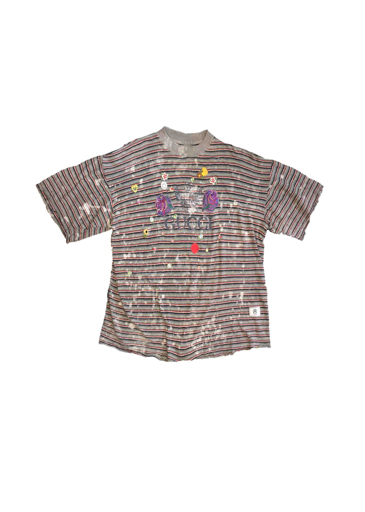 GUCCI STRIPE TEE // PATCH WORK