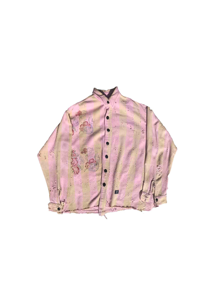 VINTAGE SCREEN PRINT // PINK PURPLE FLANNEL