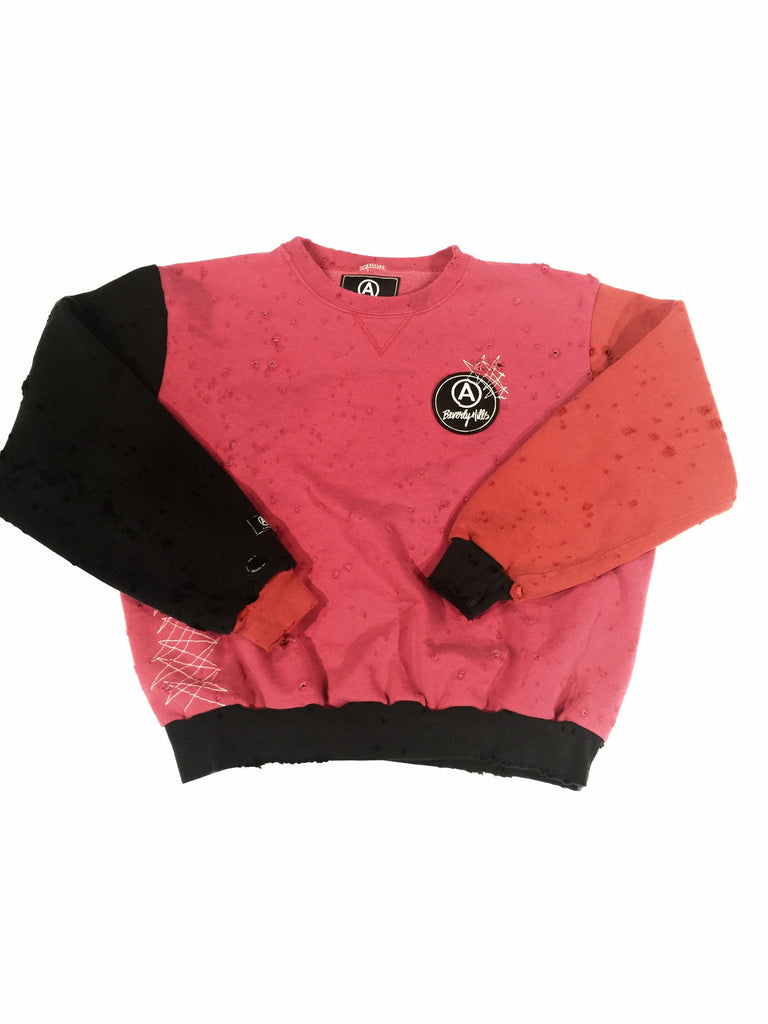champion  VINTAGE CREW NECK red pink black