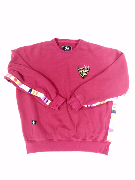 crew neck vintage polo  burgundy