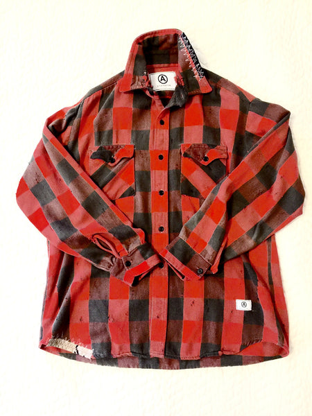 U.S ALTERATION VINTAGE FLANNEL SHIRT/LARGE