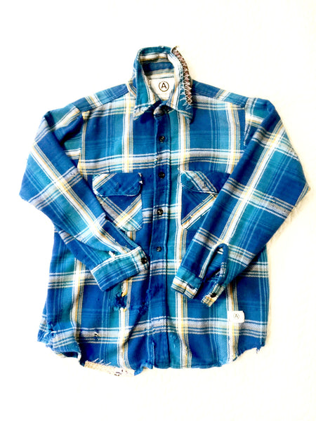 U.S ALTERATION VINTAGE FLANNEL SHIRT/MEDIUM