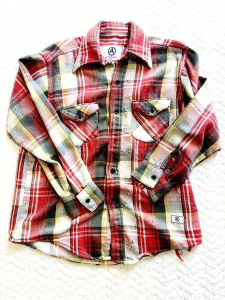 U.S ALTERATION VINTAGE FLANNEL SHIRT / LARGE
