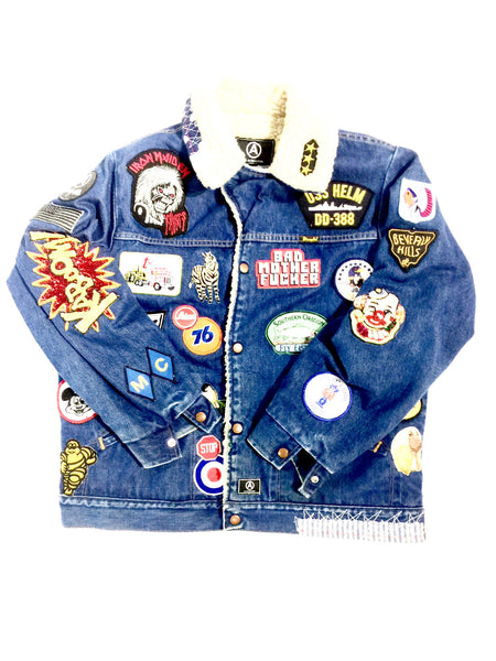 VINTAGE WRANGLER  DENIM JACKET PATCHES
