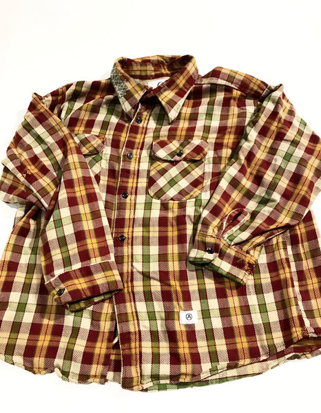 ALTERATION VINTAGE DISTRESSED FLANNEL vintage SHIRT XXL