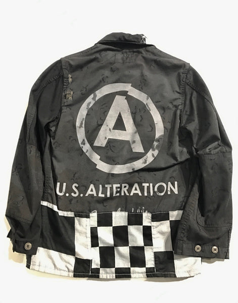 U.S ALTERATION    BLACK OVERDYE CAMO JACKET