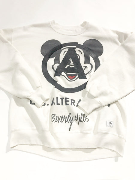 U.S ALTERATION CREWNECK  WHITE  MICKEY