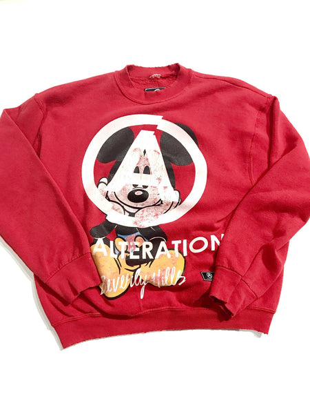 U.S ALTERATION CREW NECK  MICKEY RED