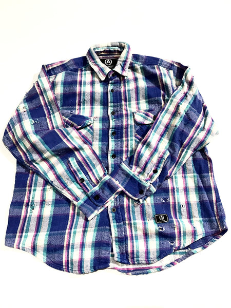 ALTERATION VINTAGE DISTRESSED FLANNEL vintage SHIRT L