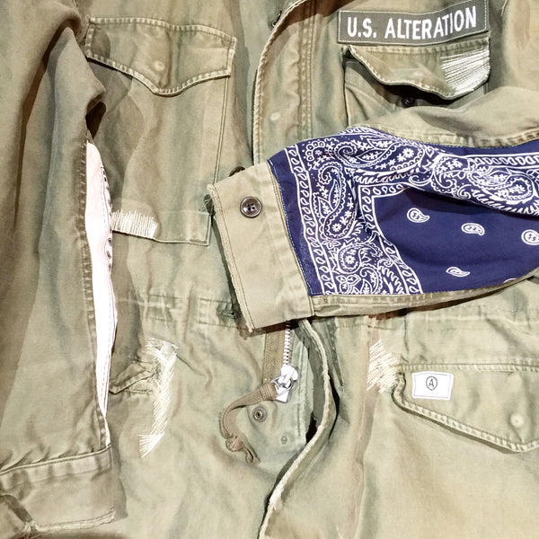 VINTAGE MILITARY   M 51  FIELD  green JACKET
