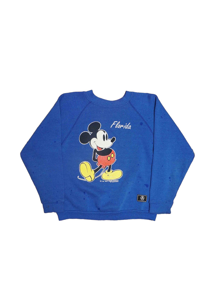 KIDS// BLUE MICKEY CREW NECK