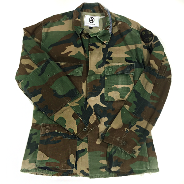 MILITARY CAMO JACKET / VINTAGE / DISTRESSED