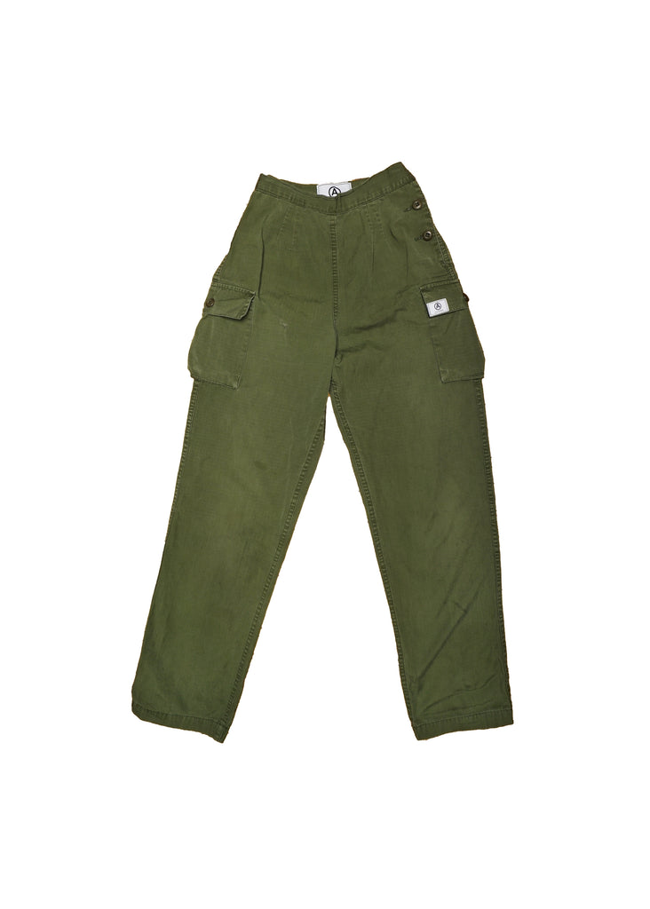 US ALTERATION// HIGH WAIST MILITARY PANT