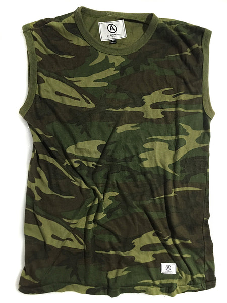 U.S ALTERATION / SLEEVELESS VINTAGE TOP / CAMO / XL