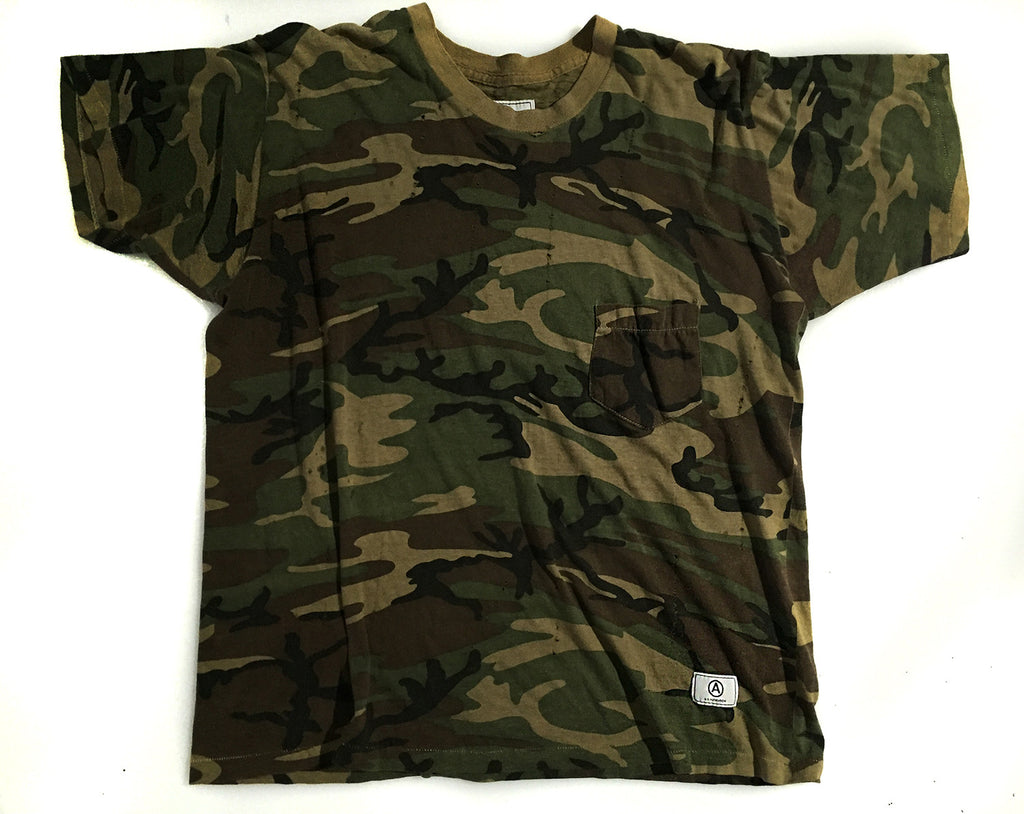 U.S ALTERATION / VINTAGE DISTRESSED TSHIRT / CAMO