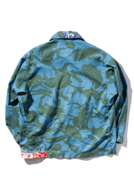 U.SALTERATION X UNION LOS ANGELES OVER DYE british camo shirt