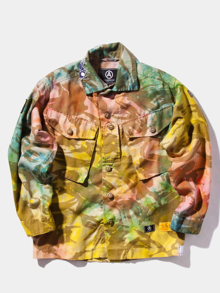 U.SALTERATION  x  UNION LOS ANGELES TIE DYE british camo shirt
