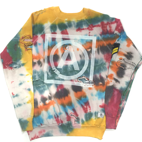 U.S ALTERATION TIE DYE VINTAGE DISTRESSED SWEATSHIRT XL