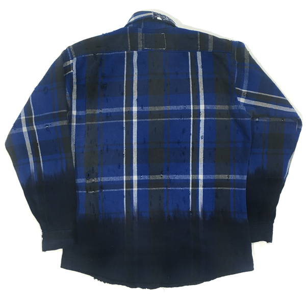 U.S ALTERATION VINTAGE DISTRESSED FLANNEL SHIRT/LARGE