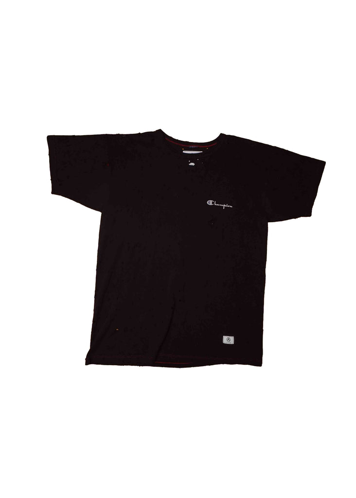 VINTAGE / CHAMPION // BLACK - DISTRESSED // TEE